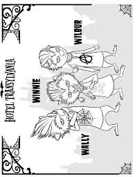 kids fun 22 coloring pages hotel transylvania
