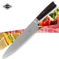 top brand kitchen knives xyj brand top quality 8 inch chef knives with color wood handle