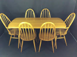 Ercol Dining Table And Chairs Ercol Plank Dining Table And 6 Quaker Chairs In Sold Recently