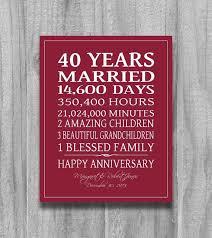 40th wedding anniversary gifts best 25 40th anniversary gifts