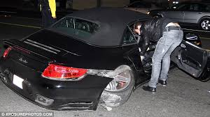 robin thicke u0027s porsche is mangled after the r u0026b singer is involved