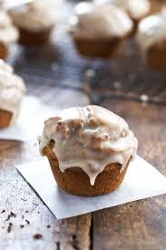maple frosting healthy maple glazed pumpkin muffins recipe pinch of yum