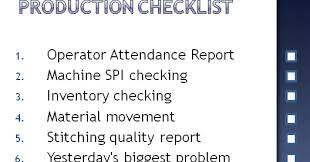 production checklist for garment factories online clothing study