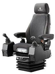 siege grammer seat with suspension for construction equipment actimo
