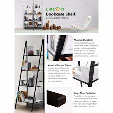 4 Sided Bookshelf Lifewit 4 Shelf Ladder Bookcase Storage Rack Library Book