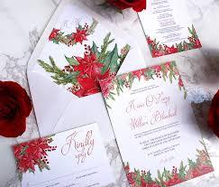 christmas wedding invitations christmas themed watercolor wedding invitations bohemian mint