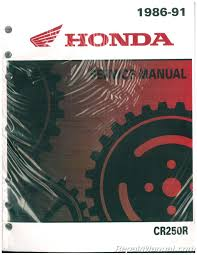 1986 1991 honda cr250r motorcycle service manual