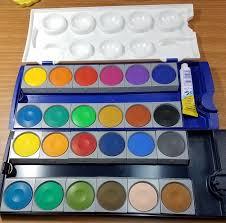 review pelikan opaque watercolor paint set 24 colors plus