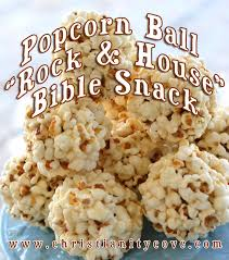 popcorn for halloween bible snack popcorn ball rock u0026 house house on the rock parable