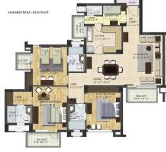 3 Bhk Apartment Floor Plan by Price Of Bptp Grandeura Faridabad 9899 648 140 Bptp Grandeura