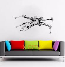 popular wall stencil stickers buy cheap wall stencil stickers lots star wars x wing fighter movie vinyl decal wall art sticker home living room door window