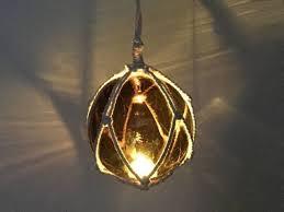 glass fishing float pendant light buy led lighted amber japanese glass ball fishing float with white netti