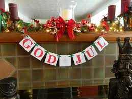 swedish christmas decorations god jul banner decorations happy christmas