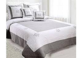 boutis canapé couvre lit coton blanc boutis brodac 230 250 gris peaceland satin