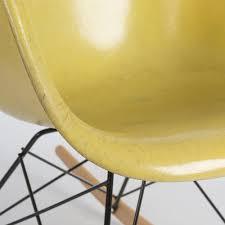 herman miller original vintage eames yellow fiberglass rocking