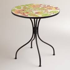 Pier One Bistro Table And Chairs Furniture Intriguing Colorful Floral Mosaic Bistro Table Design