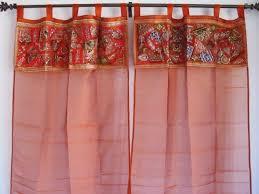 Sari Curtain Vintage Sari Tissue Fabric Curtains