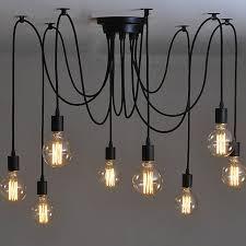 Vintage Bedroom Lighting 6 8 10 12 Arms Pendant Lights Modern Vintage Bedroom E27 Holder