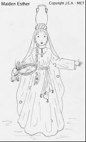 fabulous queen esther coloring page with purim coloring pages