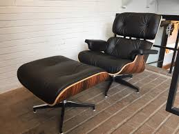 Eames Leather Lounge Chair Eames Style Leather Lounge Chair And Ottoman Italian Leather