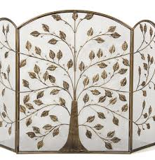 contemporary metal tree of life fire screen ebth