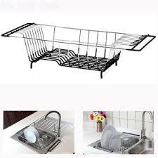 kitchen sink drainer over the sink kitchen dish drainer rack holder drying basket tray