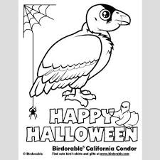 halloween california condor coloring u003c fun free downloads