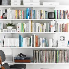 Container Store Leaning Desk White Elfa Décor Bookshelf The Container Store