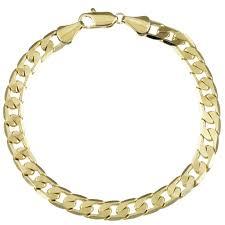 cuban chain bracelet images Shop simon frank designs 7mm cuban gold or silver overlay bracelet jpg