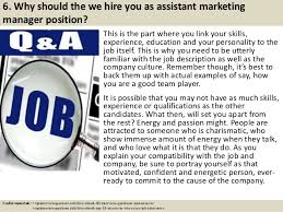 assistant marketing manager job description overview according to