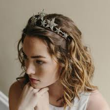 hair accessories tiara bridal crown hair accessory stargazer style