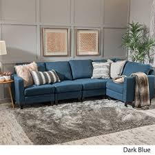 Fabric Sectional Sofas Carolina Blue Fabric Sectional Sofa Kitchen Dining