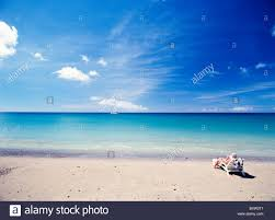 Beach Lounger Man Relaxing On Beach Chair Sun Lounger Stock Photo Royalty Free