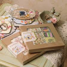 scrapbooking albums vintage diy tabbed album kit chipboard 6 ring bind scrapbooking