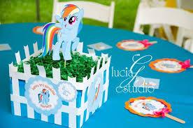 my pony centerpieces my pony birthday party ideas photo 6 of 10 catch my party