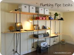 pipe desk with shelves plumbing pipe desk adjustable shelves throughout really like dma