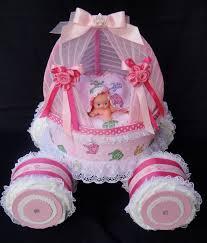 gold princess carriage princess diaper cake unique baby