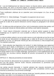 chambre d arbitrage de chambre de commerce internationale maroc reglement d arbitrage de la