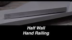 Replace Banister With Half Wall Diy Half Wall Railing Youtube