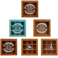 work well wooden multi grids storage boxes with glass cover design