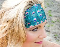 peacock headband peacock headbands etsy