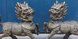 qilin statue free shipping s00140 13 folk bronze animal kylin