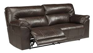 Ashley Sofa Leather by Amazon Com Ashley Barrettsville 2 Seat Leather Power Reclining