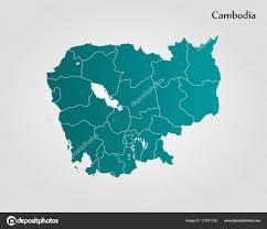 Map Of Cambodia Map Of Cambodia U2014 Stock Vector Uglegorets 173571340