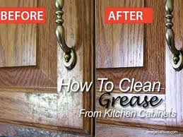 remove grease from kitchen cabinets how to clean greasy kitchen cabinets smartness ideas 4 28 remove