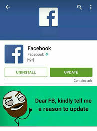 fb update facebook facebook 12 uninstall update contains ads dear fb kindly