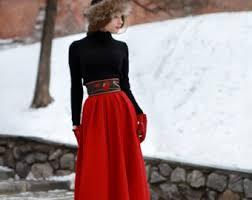 Wool Skirts For Winter Long Wool Skirt Etsy
