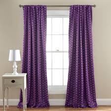 polka dot blackout window curtain set