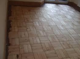 pine parquet wood block flooring basketweave pattern sanded and