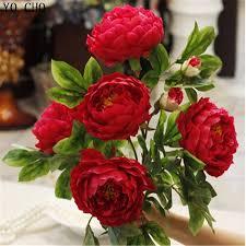 aliexpress com buy artificial peony bouquet super large